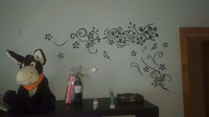 Hot DIY Wall Art Decal Decoration Fashion Romantic Flower Wall Sticker/ Wall Stickers Home Decor 3D Wallpaper Free Shipping 12