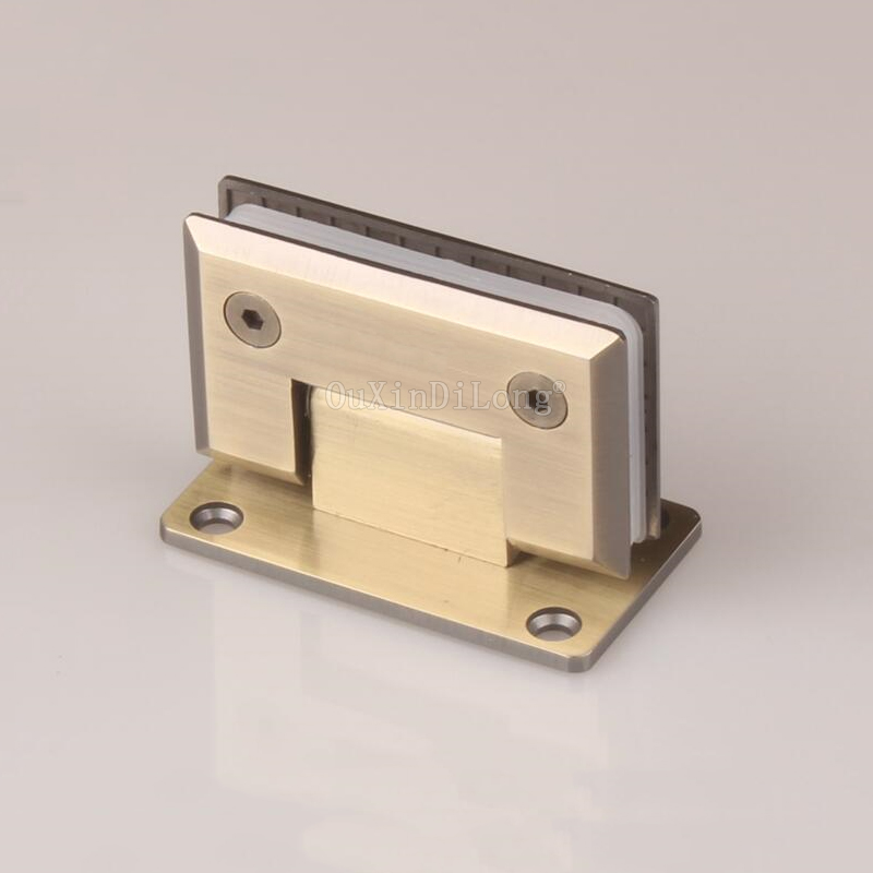 2PCS 90 Degree Bronze Stainless Steel Hinges Frameless Wall to Glass Bathroom Shower Door Hinge Wall Mount 8-10mm Hinge JF1773 2pcs 90 degree bronze stainless steel hinges frameless wall to glass bathroom shower door hinge wall mount 8 10mm hinge jf1773