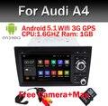 Android 5.1! Quad Core 1.6 Г 7 Дюймов В Тире Dvd-плеер Автомобиля Аудио для Audi A4 2002-2008 С Wi-Fi Gps-навигация BT Радио Карта