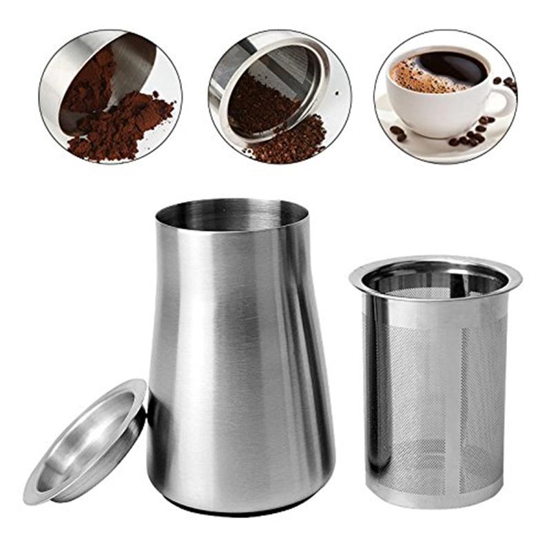 Coffee Powder Filter,63*73*106MM Stainless Steel Coffee Sieve/Coffee Fine Powder Strainer with ...