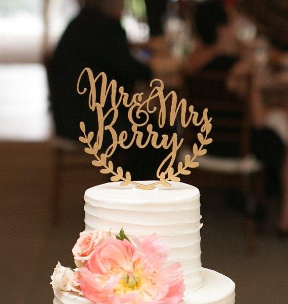 Personifizierte Hochzeitstorte Topper Benutzerdefinierte Namen
