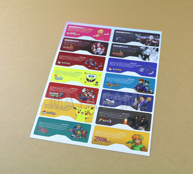 1set=14pcs Customer Design for GBA SP Label Sticker Lable For GBA SP Console Back Tag