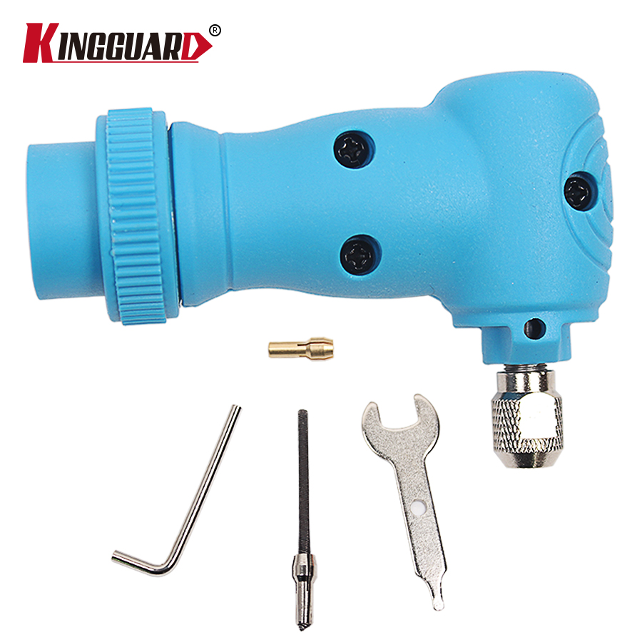 Right Angle Converter Rotary Tool Attachment fit for Original Dremel 4000 3000 275 Electric Grinder Accessory Blue right angle drill attachment three jaw chuck key adapter handle accessory tool