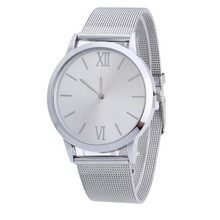 2017 Hot Sale Fashion New  Fashion  Women Ladies Silver Stainless Steel Mesh Band Wrist Watch
