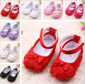 Lovely Girls Princess Shoes Infant Baby Toddler Shoes Soft Sole Rose Flower First Walkers 11cm 12cm 13cm BS03