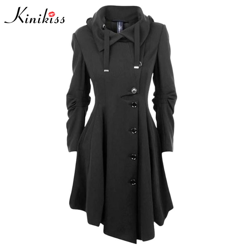 Popular Black Trench Coats Women-Buy Cheap Black Trench Coats ...