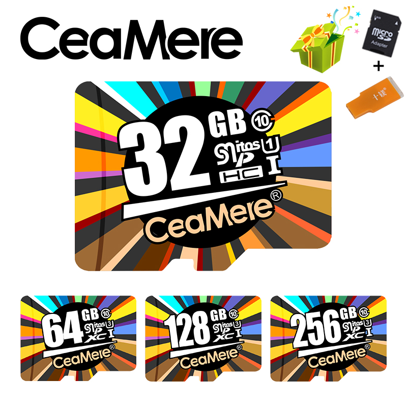 Ceamere Memory Card 256GB 128GB 64GB U3 UHS-3 32GB Micro sd card Class10 UHS-1 flash card Memory Microsd TF/SD Cards for Tablet londisk microsd 16gb 32gb 8gb class10 uhs 1 flash memory card 64gb 128gb 256gb u3 micro sd card tf card for smartphone camera