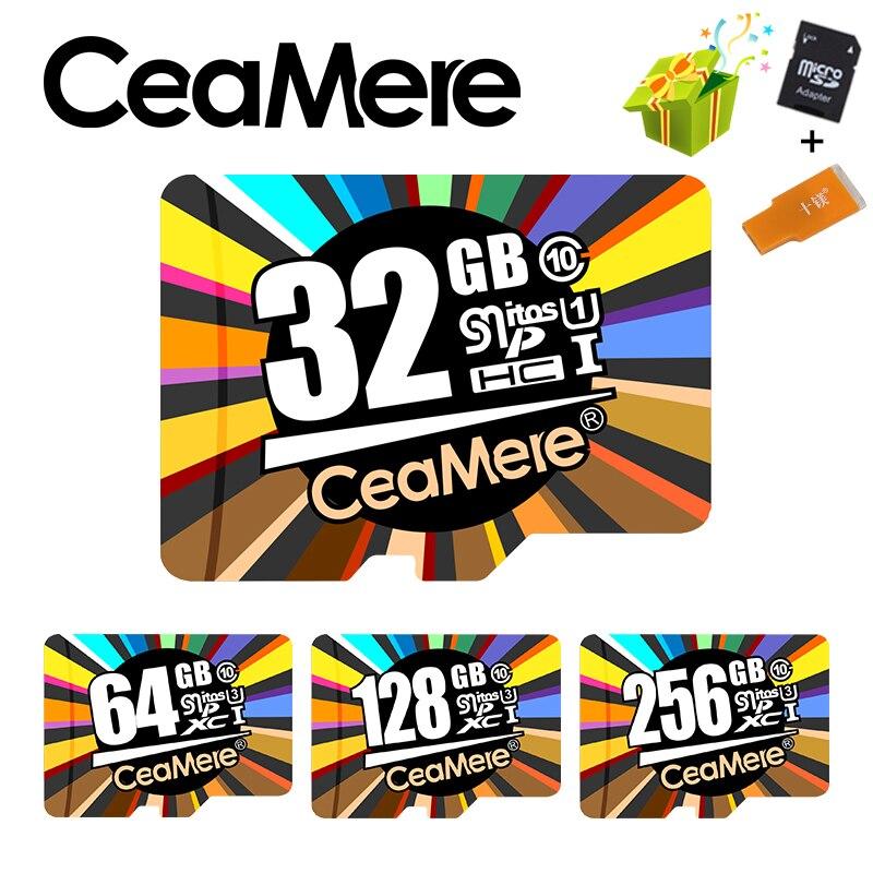 Ceamere Scheda di Memoria 256 gb 128 gb 64 gb U3 UHS-3 32 gb Micro carta di deviazione standard di Class10 UHS-1 flash card di memoria Microsd TF/SD CARD per Tablet