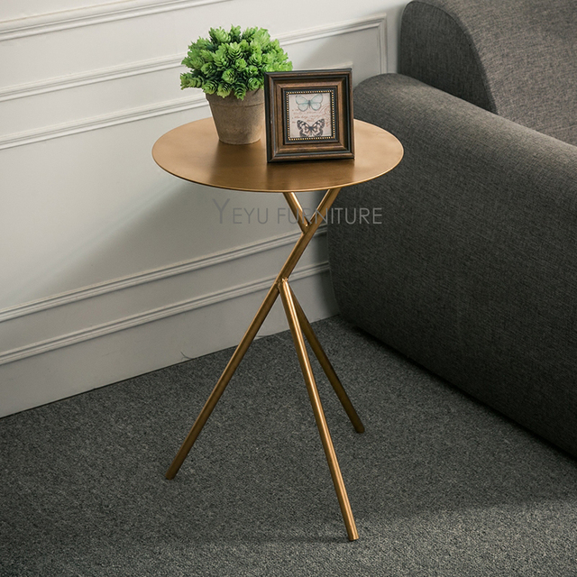 Modern Design Gold Silver White Black Color Metal Side Table Fashion Por Coffee