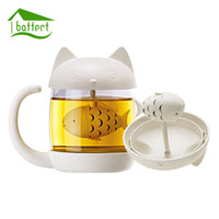2017 New Tea Strainer Cat Monkey Tea Infuser Cup Grasses mug Teapot Teabags for Tea & Coffee Filter Drinkware Kitchen Tools