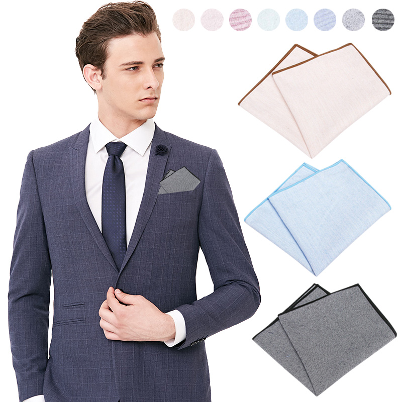 Men Groom Pocket Square Handkerchief Hanky Solid Color For Wedding Party Suit FS99