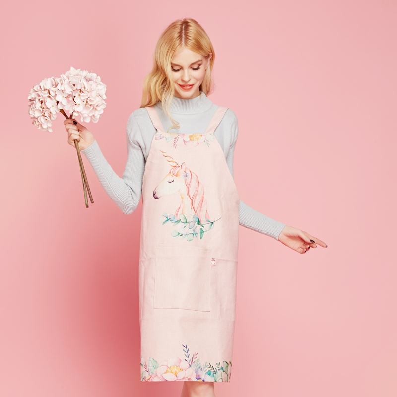 Nordic Unicorn Thick Cotton Apron