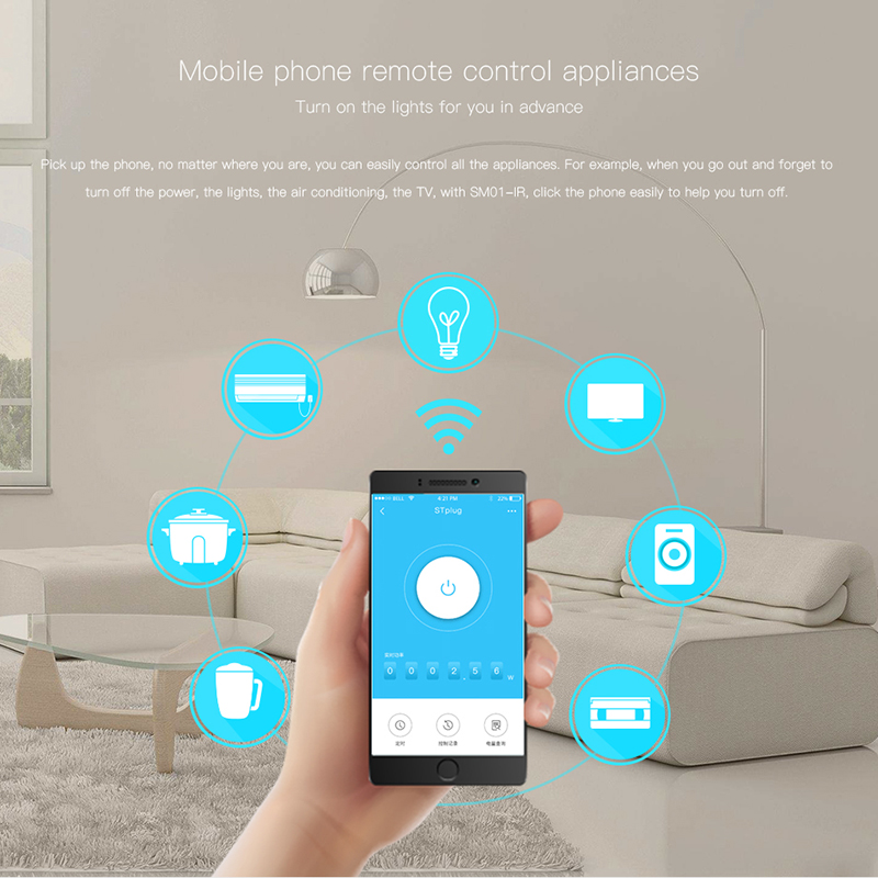 US $43 98 |TIANJIE smart APP WiFi infrared Wall Plug smart socket For iOS  Android smart phone-in Home Automation Modules from Consumer Electronics on