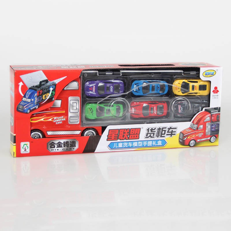 children educational toys simulation container truck 12pcs racing car model toys for kids birthday present