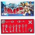 12 Unids/lote Cosplay Kingdom Hearts Sora Keyblade Collar Colgantes Llavero Figura Juguete DEL PVC Envío Gratis