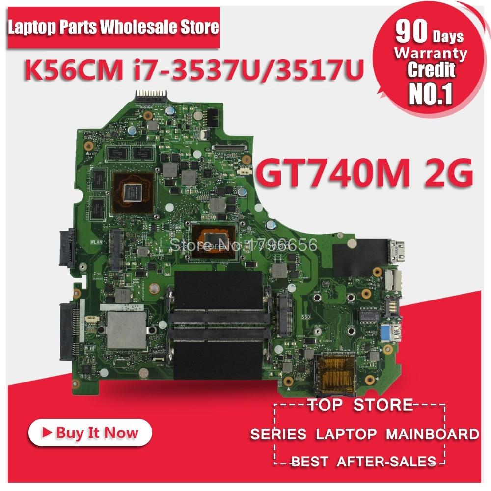 GT740M i7 CPU K56CB Motherboard For ASUS K56CB A56C S550CM S56C S550C laptop Motherboard K56CM Mainboard K56CB Motherboard chicco сортер домик с животными chicco