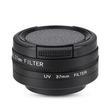 37Mm Cpl + Uv Lens Filter Voor Yi 4K Action Sport Camera Lens Beschermende Cap Adapter Ring