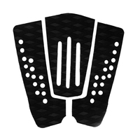 Safety 3 Pcs Set Black EVA Tail Pads Surfboard Deck Grips Traction Surfing Mat For Surfing