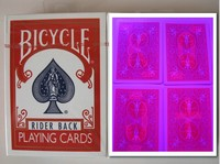 Customized Bicycle 808 Red Perspective Poker Estimated Delivery 7 Days