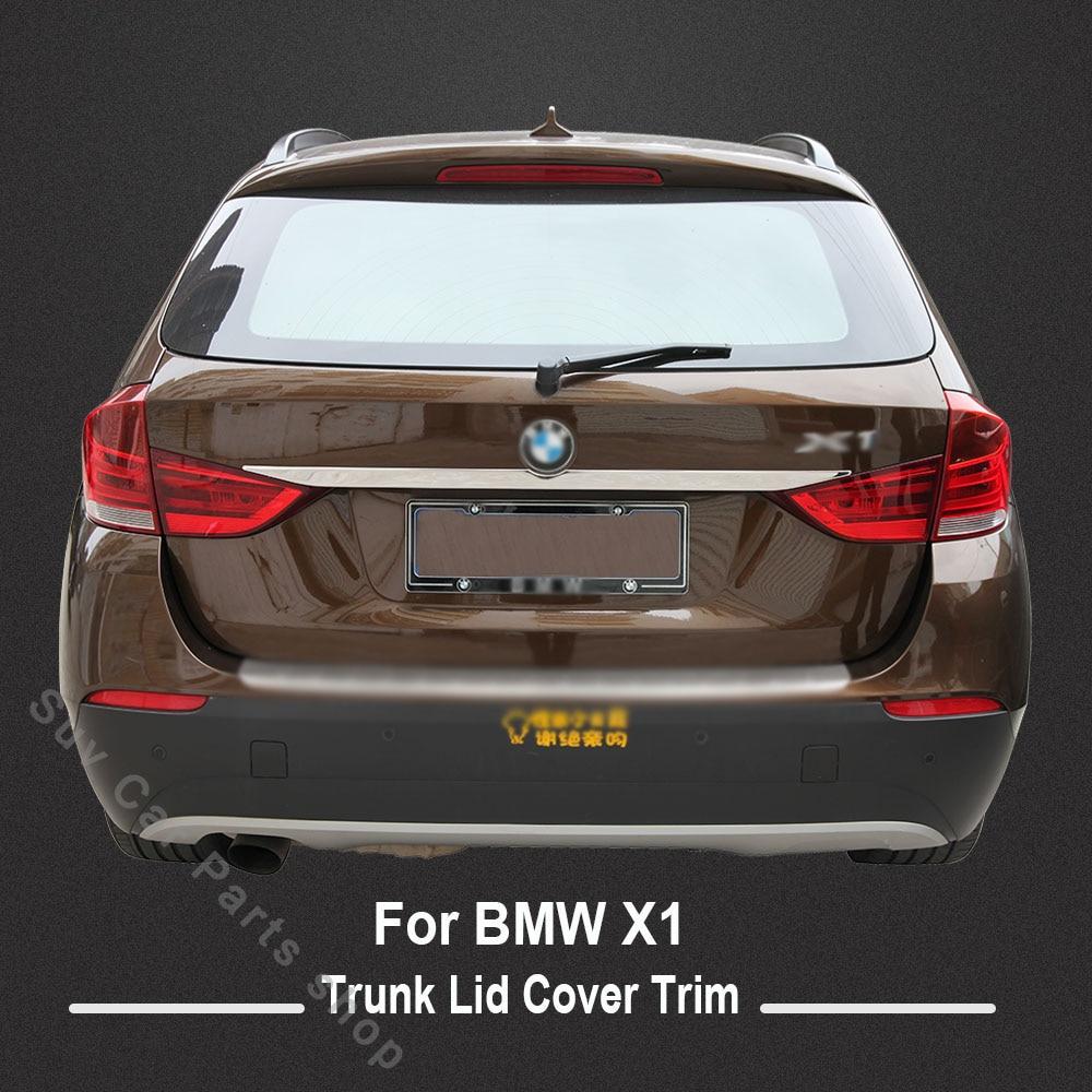 KOUVI Haute qualité couvercle de coffre en acier inoxydable garniture accessoires pour 2012 2013 2014 2015 BMW X1 e84