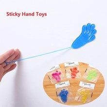 10 adet/torba yapışkan eller palmiye elastik tokat eller palmiye oyuncak çocuk çocuklar parti iyilik yenilik hediye eğlenceli şakalar şakalar