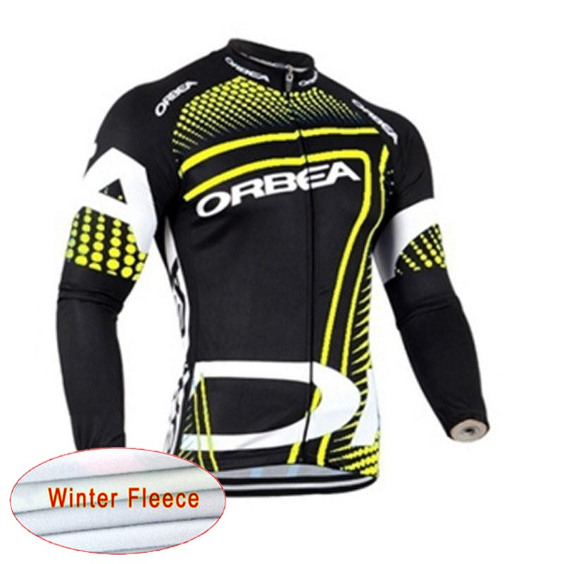 ORBEA Winter Thermal Fleece Cycling Jersey 2018 Pro Team Men Bike Clothing Long Sleeve Bicycle Shirts Maillot Ciclismo C0905 shift