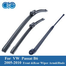 Oge Front And Rear Wiper Blade For VW Passat B6 Estate 2005 2006 2007 2008 2009 2010 2011 Natural Rubber Car Accessories
