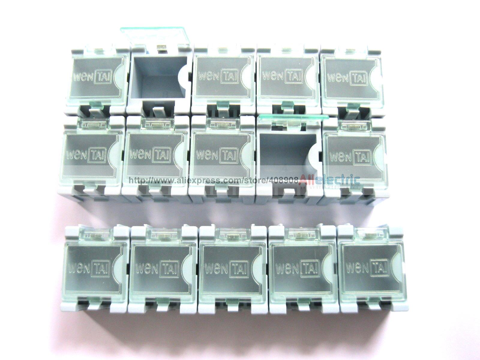 100 x Blue SMD Electronic Component Mini Storage Box 12 pcs smd smt electronic component storage box yellow