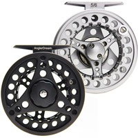 5 6 7 8WT Fly Reel Silver Black Die Casting Large Arbor Fly Fishing Reel Extra