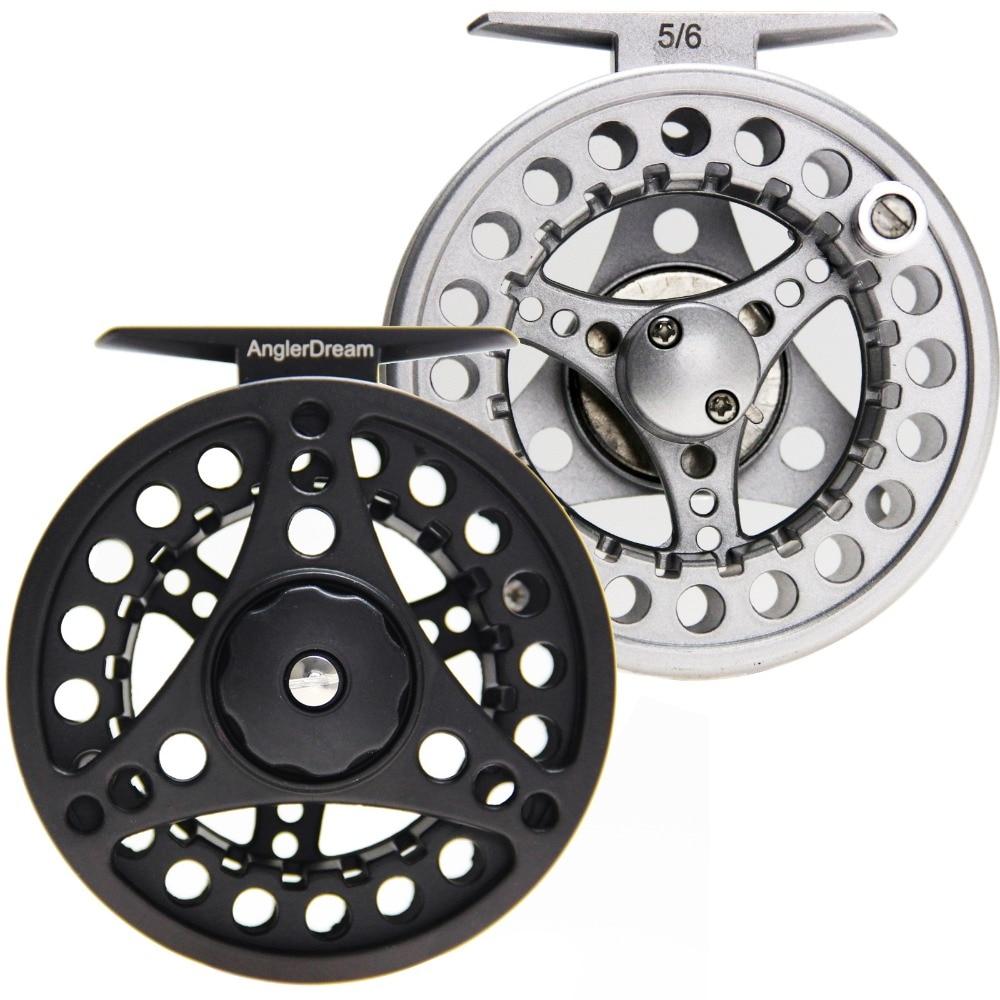 3/4 5/6 7/8WT Fly Reel Silver Black Die casting Large Arbor Aluminum Fly <font><b>Fishing</b></font> Reel