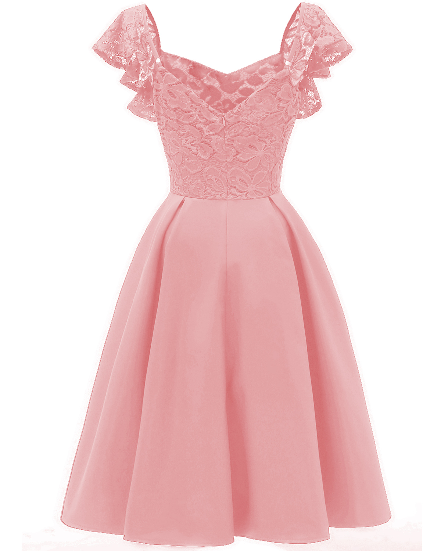 6a8661f0085f A-line Vintage Vestidos Lace Dress Elegant Women Short Prom Office Slim  Party Dresses Summer 2018 Casual Beach Dress