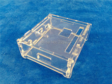 Transparent Pi Box case shell for Raspberry  Pi model A not Raspberry pi model b plus + 1pcs pure aluminum heat sink set kit