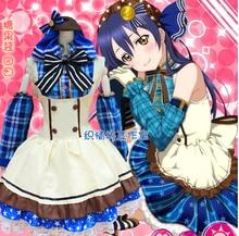 Nueva Cos Anime Love Live! todos los miembros sonoda umi minami kotori cosplay halloween dress del verano conjunto completo 2en1 (dressrs + headwear)