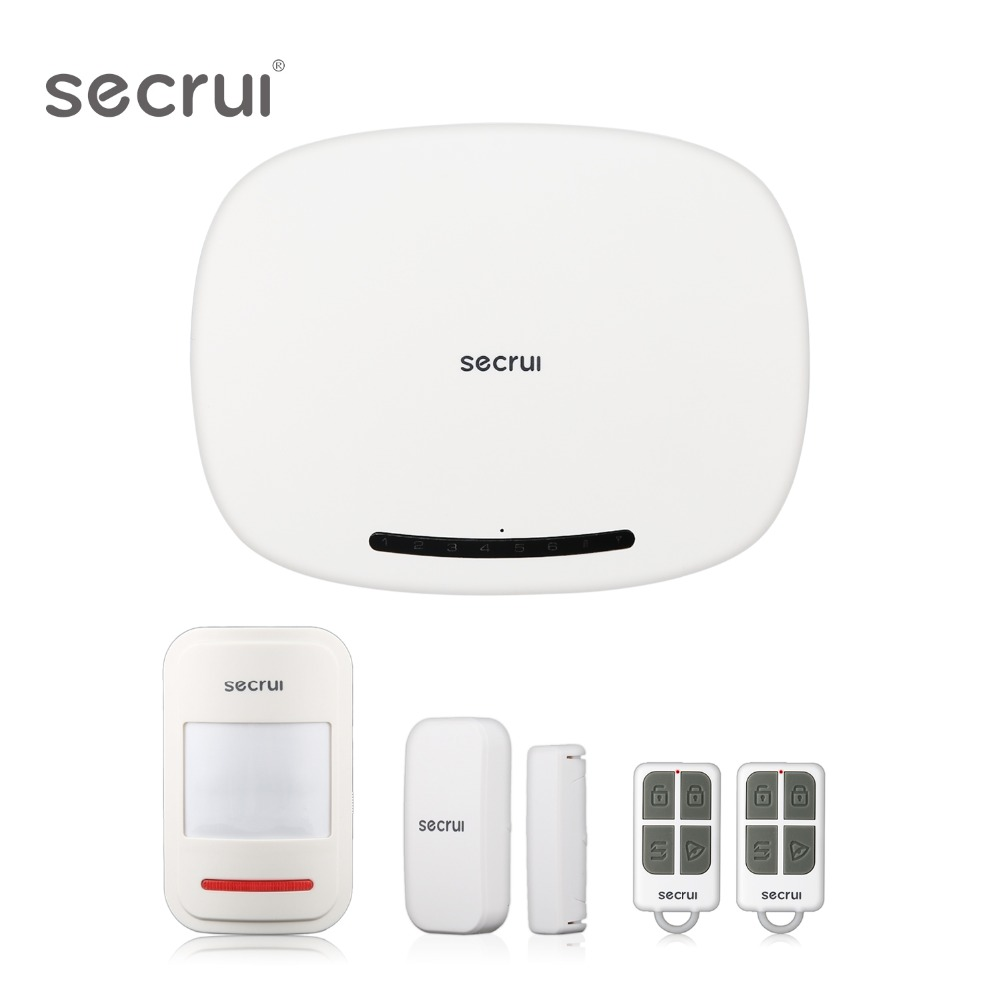 Système d'alarme Pour La Maison sécurité gsm Wifi sécurité sans fil Alarmes De Voiture Accueil Alarme Maison Évasion Chambre Résidentiel porte-clé alarme W19