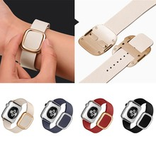 Рок Бренд Для Apple Watch Band Современные Пряжка Ремешок для iWatch браслет 38 ММ 42 ММ Гладкий Гранада кожа для iWatch ремень