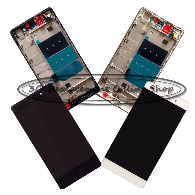 imágenes para We/bk/gd para huawei p8 lite ale-l04 ale-l02 ale-ul00 ale-l21 lcd display + touch screen asamblea del digitizador + frame