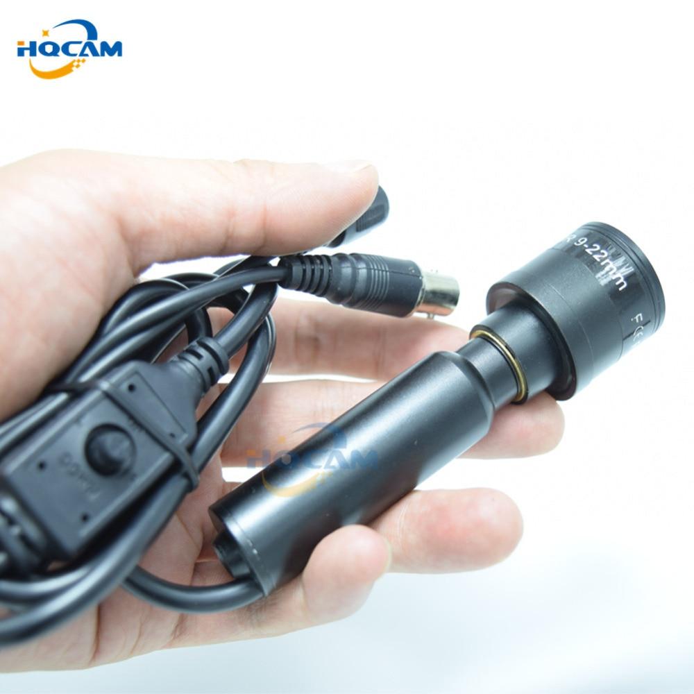 HQCAM 700TVL 9-22mm manual varifocal zoom Mini Square OSD menu Bullet Intdoor Effio-E 4140+673/672 CCD Color Security Camera mini bullet cvbs ccd camera 700tvl with headset mount for mobile surveillance security video 5v