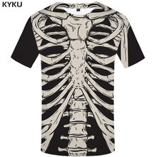KYKU Brand Skeleton T Shirt Men Bone T-shirts 3d T-shirt  Funny T Shirts Anime Tshirt Fitness Mens Clothing 2018 Casual Tops 4xl цена