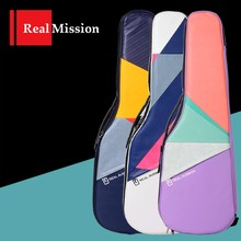 цена Rm Real Mission Electric Guitar Case Bag, Unique Color Collage with 3 Styles, Fit ST or LP Shape Electric Guitar