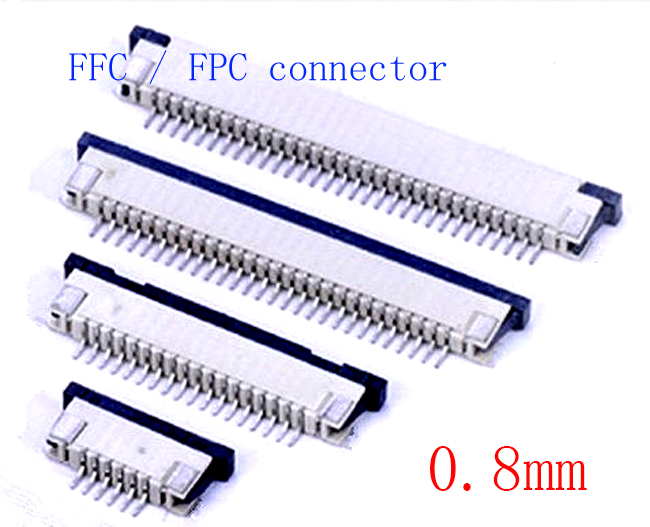 10pcs FFC / FPC Connector 0.8mm 5 Pin 6 7 8 10 12 14 16 18 20 22 24 26 28 30P Drawer Type Ribbon Flat Connector Top Contact
