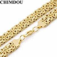 Chimdou大60センチ* 18ミリメートルステンレススチールゴールドカラーポップパンク