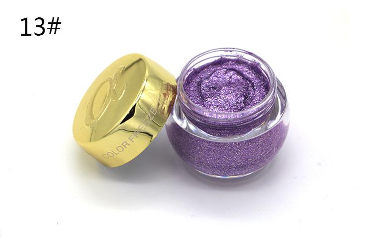 Love Alpha Single Color Eye Shadow Gel Eyes Makeup Glitter Nude Eyeshadow 16 Color EyeShadow Palette Shining Bright Brand Makeup (16)
