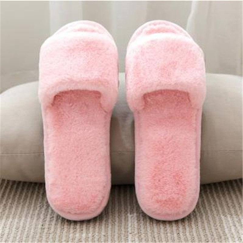 Fashion home slippers female plush month of shoes air conditioning cotton-padded floor slippers indoor