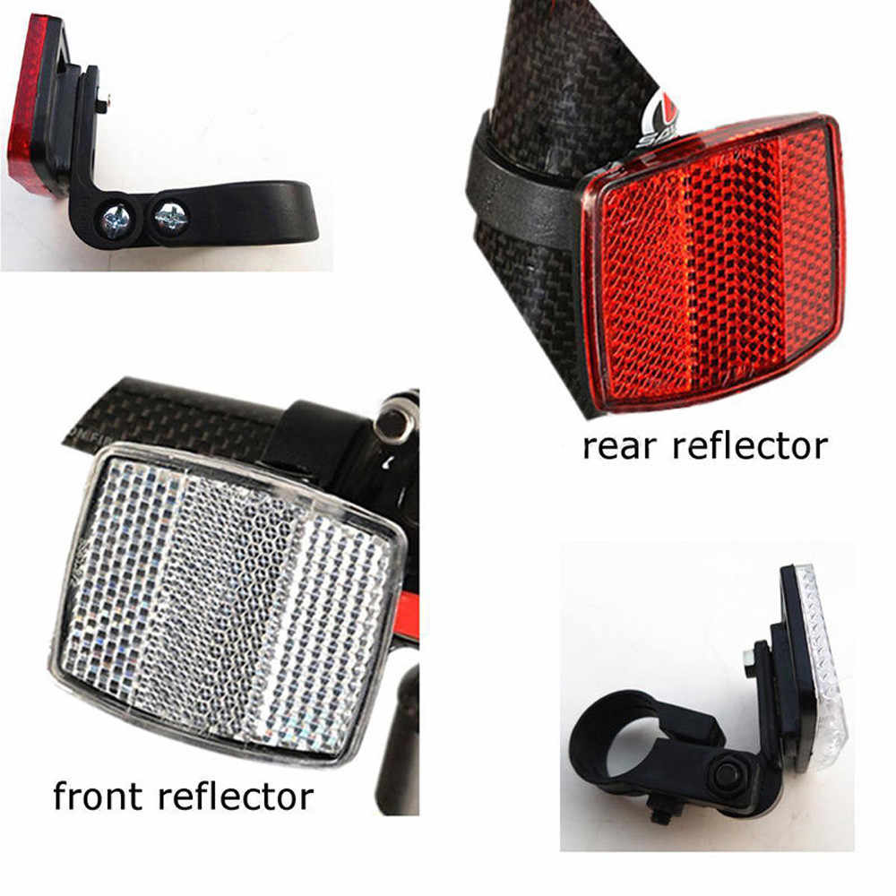 Baru Lampu Sepeda Handlebar Mount Aman Reflektor Sepeda Depan Belakang Peringatan Merah/Putih Sepeda Grosir Aksesoris Luar Ruangan