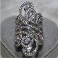 Виктория Вик Женщины Ювелирные Изделия Стерлингового Серебра 925 Имитация Алмазный CZ Свадебный Обручальное Цветок Палец Кольцо Диапазона SZ5-11