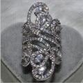 Victoria Wieck Jóias Moda Feminina 925 Sterling Silver Simulado Diamante CZ Wedding Engagement Dedo Flor Anel Banda SZ5-11