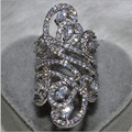 Victoria Wieck Women Fashion Jewelry 925 Sterling Silver Simulated Diamond CZ Wedding Engagement Flower Finger Band Ring SZ5-11
