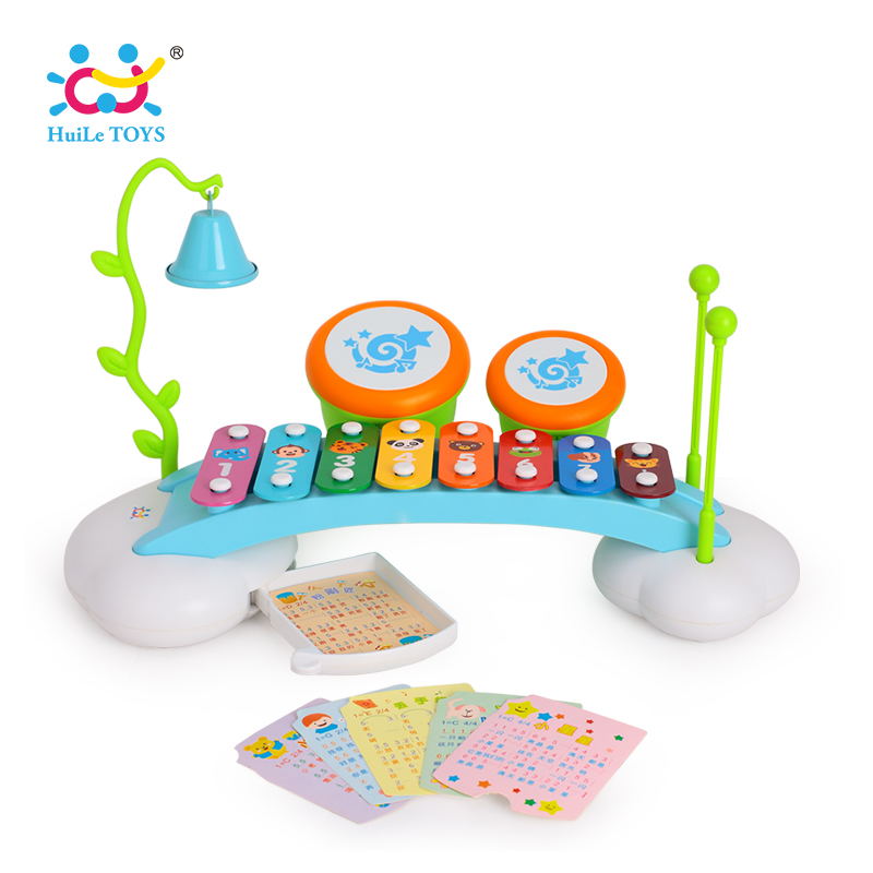 HUILE TOYS 909 Baby Toys Colorful Rainbow Hand Knock Piano 8-Note Early Learning Development Musical Toys for Children Girl Gift popular toys wooden hand knock piano octave cartoon animal small children musical instrument educational toys free shipping