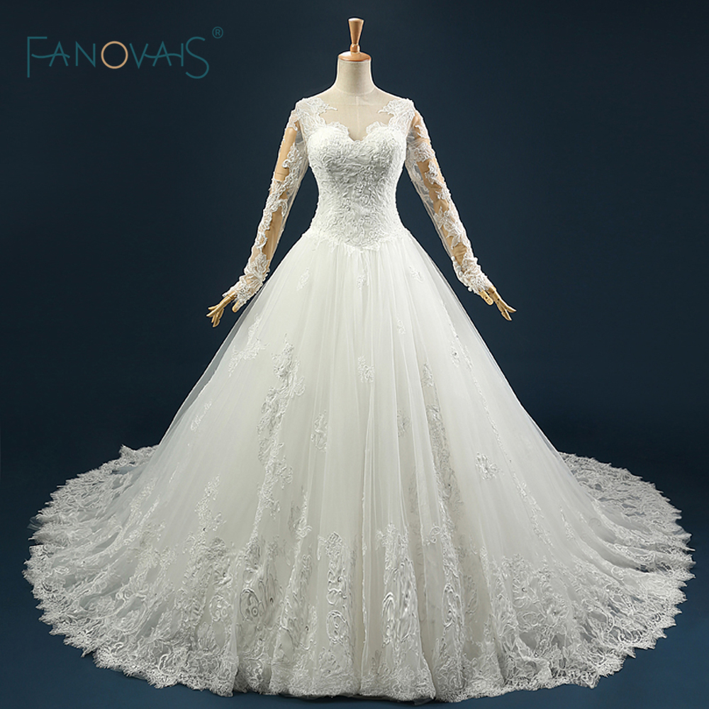 Real Sample Gorgeous Keyhole Back Ball Gown Puffy Bridal Wedding ...