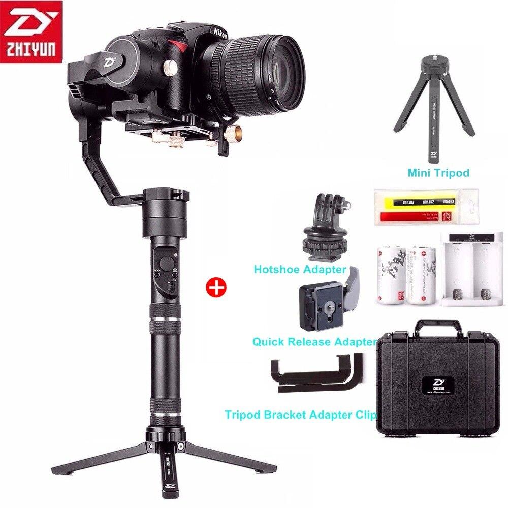 Zhiyun Grue Plus 3 Axes De Poche Cardan Stabilisateur 2.5 kg 5.5lb Charge Utile pour Sony Panasonic Canon Nikon Fujifilm Dsrls Caméra